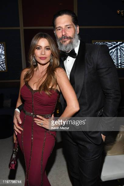 Sofía Vergara and Joe Manganiello attend The 2020 InStyle And Warner Bros. 77th Annual Golden Globe Awards Post-Party at The Beverly Hilton Hotel on...
