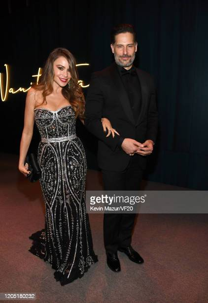 Sofía Vergara and Joe Manganiello attend the 2020 Vanity Fair Oscar Party hosted by Radhika Jones at Wallis Annenberg Center for the Performing Arts...