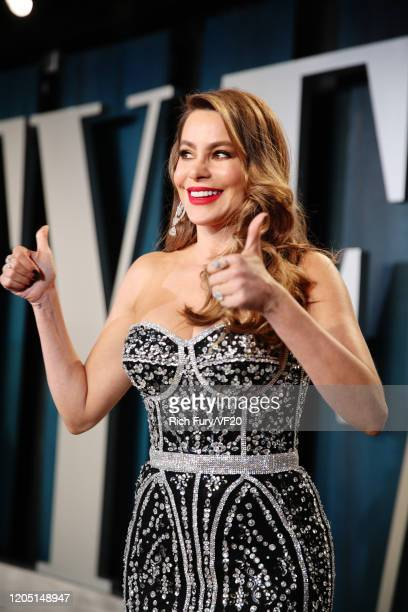 Sofía Vergara attends the 2020 Vanity Fair Oscar Party hosted by Radhika Jones at Wallis Annenberg Center for the Performing Arts on February 09 2020...
