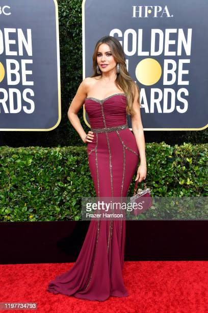 Sofía Vergara attends the 77th Annual Golden Globe Awards at The Beverly Hilton Hotel on January 05, 2020 in Beverly Hills, California.