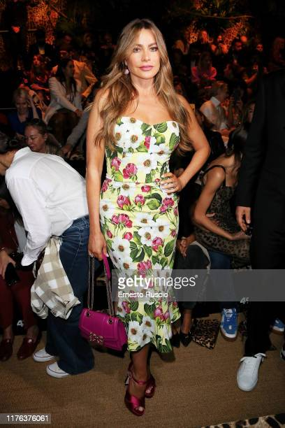 Sofía Vergara attends the Dolce Gabbana fashion show during the Milan Fashion Week Spring/Summer 2020 on September 22 2019 in Milan Italy