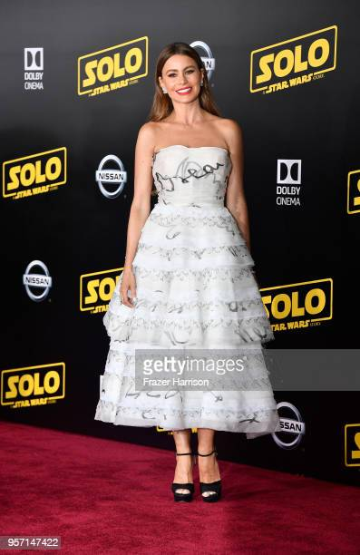 Sofía Vergara attends the premiere of Disney Pictures and Lucasfilm's Solo A Star Wars Story at the El Capitan Theatre on May 10 2018 in Los Angeles...