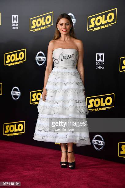 Sofía Vergara attends the premiere of Disney Pictures and Lucasfilm's 'Solo A Star Wars Story' at the El Capitan Theatre on May 10 2018 in Los...