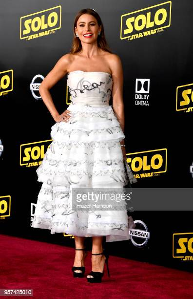 Sof'a Vergara attends the Premiere Of Disney Pictures And Lucasfilm's Solo A Star Wars Story on May 10 2018 in Los Angeles California