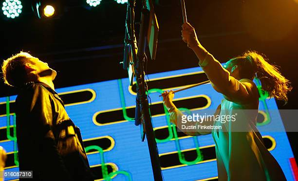 Sofi Tukker performs onstage at the KCRW music showcase during the 2016 SXSW Music Film Interactive Festival at 3TEN Austin City Limits on March 16...