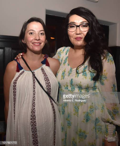 Sofia Alvarez and Jenny Han attend the after party for a screening of Netflix's 'To All The Boys I've Loved Before' on August 16 2018 in Culver City...