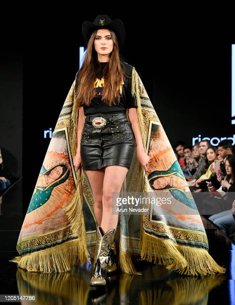 Sofia Aragon walks the runway during Ricardo Seco At New York Fashion Week Powered By Art Hearts Fashion NYFW 2020 at The Angel Orensanz Foundation...