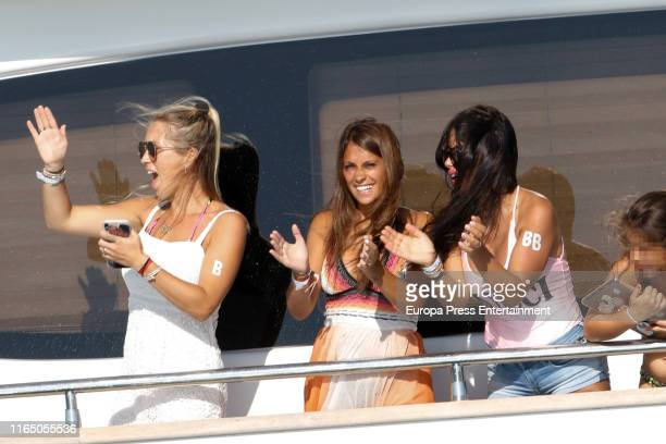 Sofia Balbi Antonella Roccuzzo and Daniella Semaan are seen on July 29 2019 in Ibiza Spain