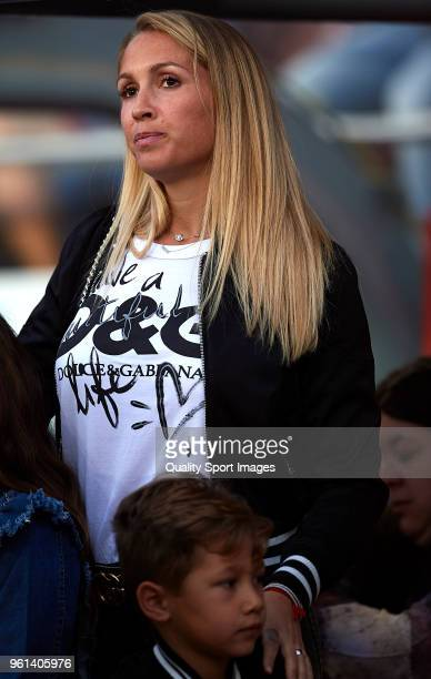 Sofia Balbi wife of Luis Suarez attends the La Liga match between Barcelona and Real Sociedad at Camp Nou on May 20 2018 in Barcelona Spain
