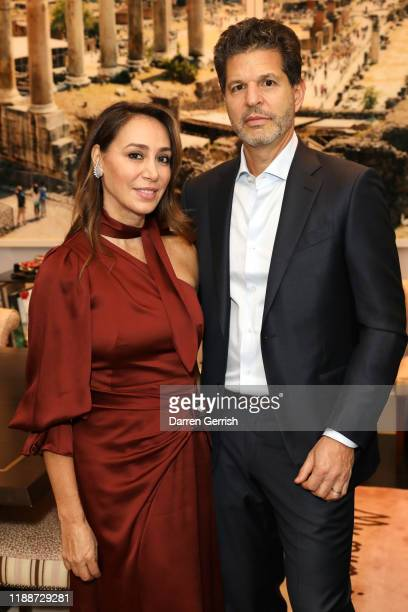 Sofia Barattieri and Brian Weinstein attend the Zegna What Makes a Man dinner London on November 19 2019 in London United Kingdom