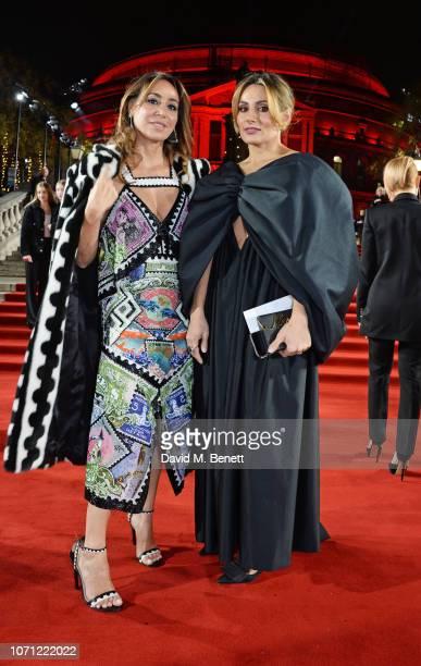 Sofia Barattieri and Narmina Marandi arrive at The Fashion Awards 2018 in partnership with Swarovski at the Royal Albert Hall on December 10 2018 in...
