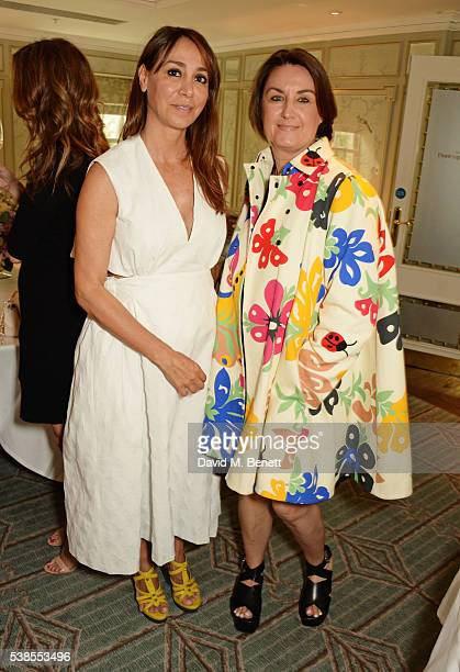 Sofia Barattieri and Soraya Young attend a lunch hosted by Tamara Beckwith and Alessandra Vicedomini to celebrate luxury fashion brand Vicedomini at...