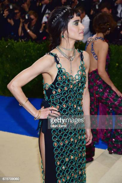 Sofia Boutella arrives at 'Rei Kawakubo/Comme des Garcons Art Of The InBetween' Costume Institute Gala at The Metropolitan Museum on May 1 2017 in...