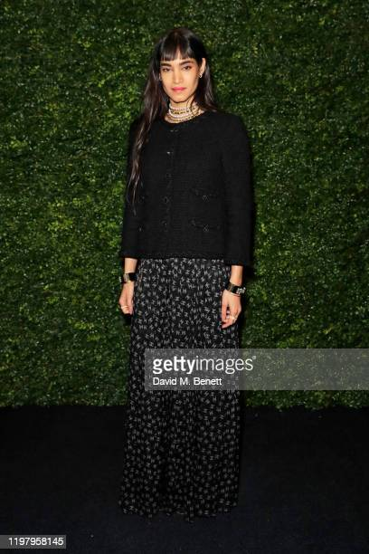 Sofia Boutella arrives at the Charles Finch CHANEL PreBAFTA Party at 5 Hertford Street on February 1 2020 in London England