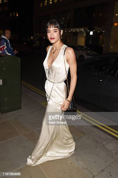 Sofia Boutella arrives at the dunhill Dylan Jones PreBAFTA dinner at dunhill Bourdon House on January 29 2020 in London England