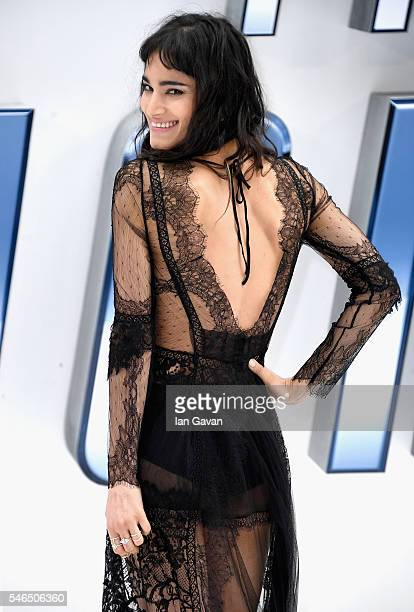 """Sofia Boutella arrives for the UK premiere of """"Star Trek Beyond"""" at Empire Leicester Square on July 12, 2016 in London, UK."""