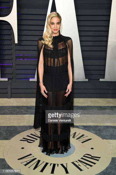 Sofia Boutella attends 2019 Vanity Fair Oscar Party Hosted By Radhika Jones Arrivals at Wallis Annenberg Center for the Performing Arts on February...