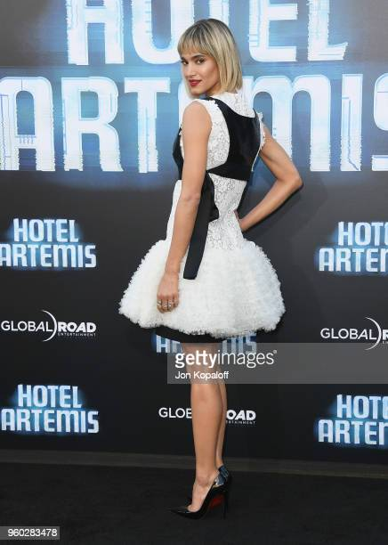 Sofia Boutella attends Global Road Entertainment's 'Hotel Artemis' Premiere at Regency Village Theatre on May 19 2018 in Westwood California