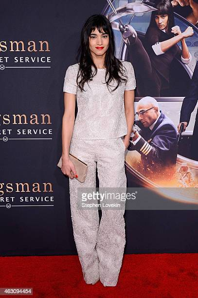 Sofia Boutella attends 'Kingsman The Secret Service' New York Premiere at SVA Theater on February 9 2015 in New York City