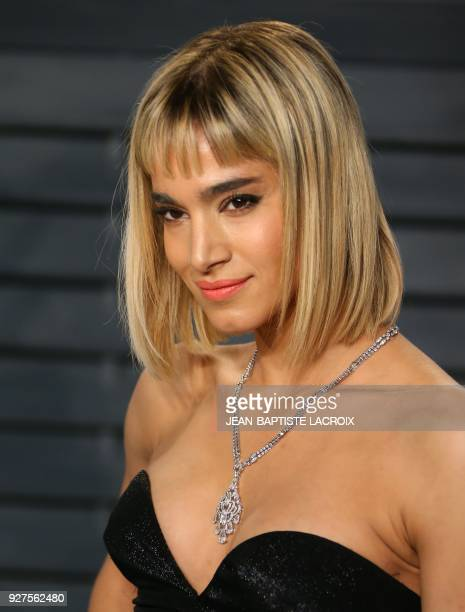 Sofia Boutella attends the 2018 Vanity Fair Oscar Party following the 90th Academy Awards at The Wallis Annenberg Center for the Performing Arts in...