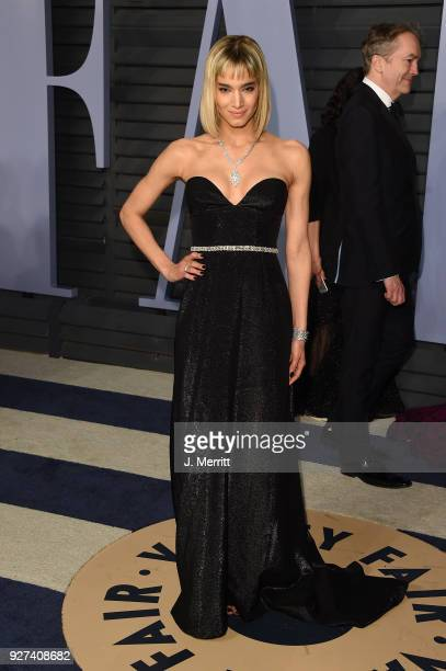 Sofia Boutella attends the 2018 Vanity Fair Oscar Party hosted by Radhika Jones at the Wallis Annenberg Center for the Performing Arts on March 4,...