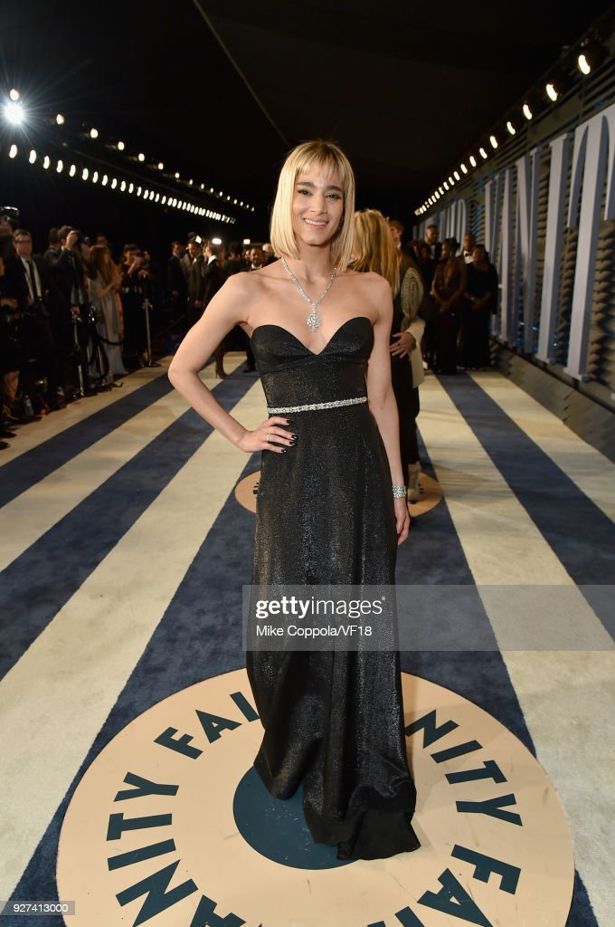 Sofia Boutella attends the 2018 Vanity Fair Oscar Party hosted by Radhika Jones at Wallis Annenberg Center for the Performing Arts on March 4, 2018 in Beverly Hills, California.
