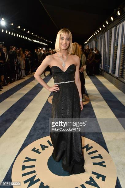 Sofia Boutella attends the 2018 Vanity Fair Oscar Party hosted by Radhika Jones at Wallis Annenberg Center for the Performing Arts on March 4 2018 in...