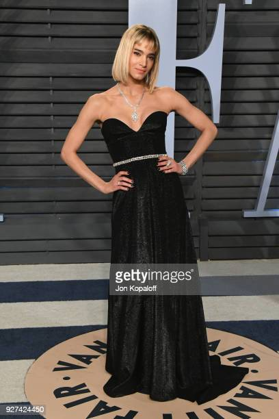Sofia Boutella attends the 2018 Vanity Fair Oscar Party hosted by Radhika Jones at Wallis Annenberg Center for the Performing Arts on March 4, 2018...