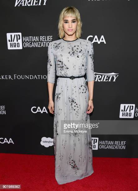 Sofia Boutella attends the 7th Annual Sean Penn Friends HAITI RISING Gala benefiting J/P Haitian Relief Organization on January 6 2018 in Hollywood...