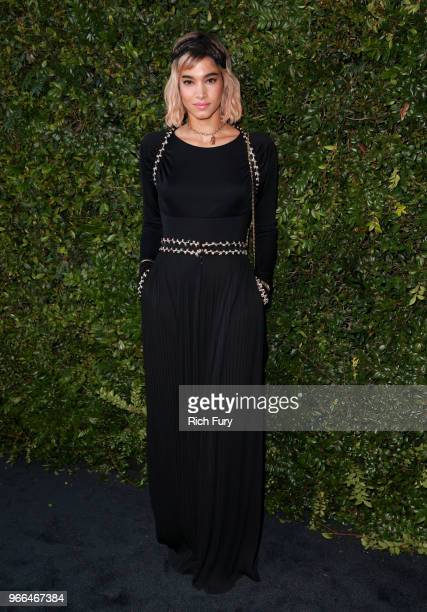 Sofia Boutella attends the CHANEL Dinner Celebrating Our Majestic Oceans A Benefit For NRDC on June 2 2018 in Malibu California