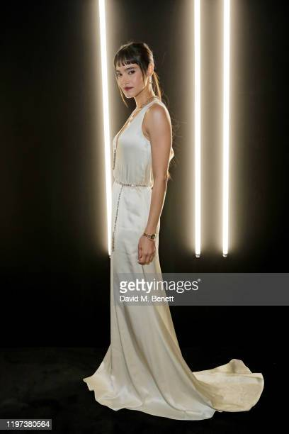 Sofia Boutella attends the dunhill Dylan Jones PreBAFTA dinner at dunhill Bourdon House on January 29 2020 in London United Kingdom