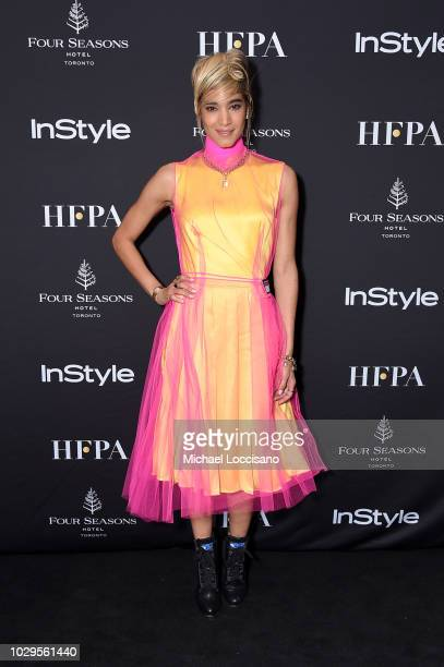 Sofia Boutella attends The Hollywood Foreign Press Association and InStyle Party during 2018 Toronto International Film Festival at Four Seasons...