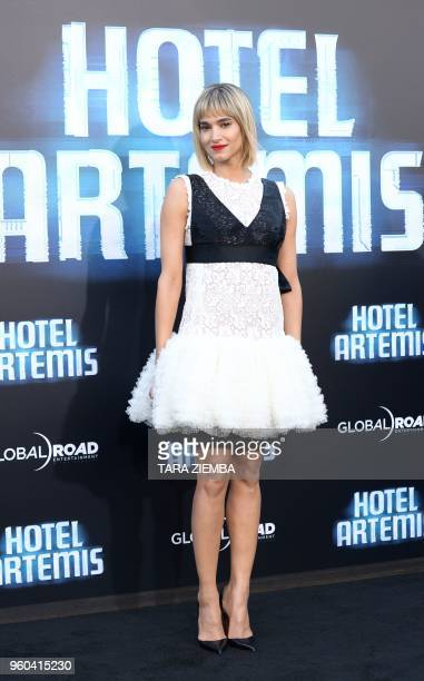 Sofia Boutella attends the Los Angeles premiere of 'Hotel Artemis' on May 19, 2018 in Westwood Village, California.