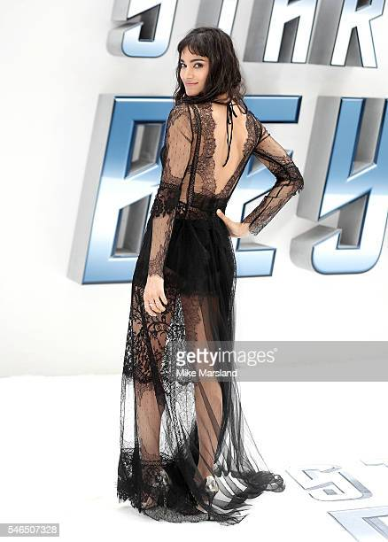 """Sofia Boutella attends the UK Premiere of """"Star Trek Beyond"""" at Empire Leicester Square on July 12, 2016 in London, England."""