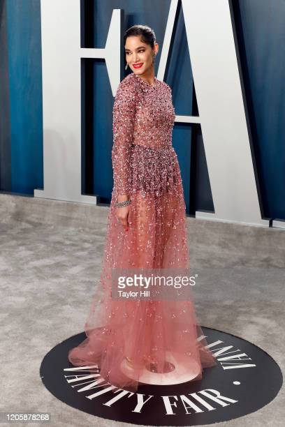 Sofia Boutella attends the Vanity Fair Oscar Party at Wallis Annenberg Center for the Performing Arts on February 09 2020 in Beverly Hills California