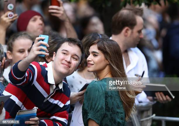 Sofia Boutella meets fans during a photo call for The Mummy at World Square on May 23 2017 in Sydney Australia