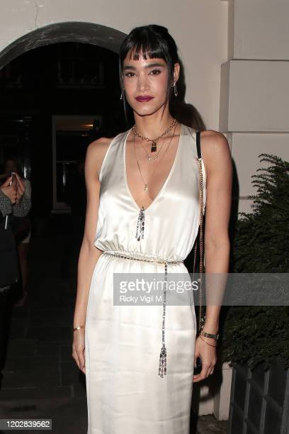 Sofia Boutella seen attending Dunhill Dylan Jones BAFTAs Filmmakers Dinner Party at Bourdon House on January 29 2020 in London England