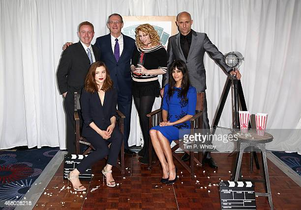 Sofia Boutella Sophie Cookson Mark Strong Jane Goldman Mark Millar and Dave Gibbons during the Jameson Empire Awards 2015 at the Grosvenor House...