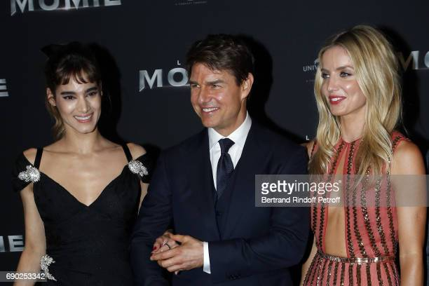 Sofia Boutella Tom Cruise and Annabelle Wallis attend 'The Mummy' Paris Premiere at Le Grand Rex on May 30 2017 in Paris France