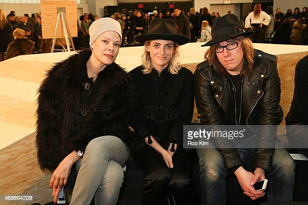 Sofia Bowen Emily Armstrong and Nathan Martin attend the Marc By Marc Jacobs Show during MercedesBenz Fashion Week Fall 2014 at Pier 36 on February...