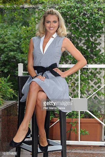 Sofia Bruscoli attends RAI 1 TV programmes presentation at Hotel Westin Palace on August 31 2012 in Milan Italy