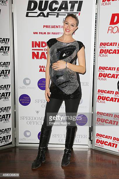 Sofia Bruscoli attends the 'Indovina Chi Viene A Natale' party at Ducati Caffe on December 19 2013 in Rome Italy