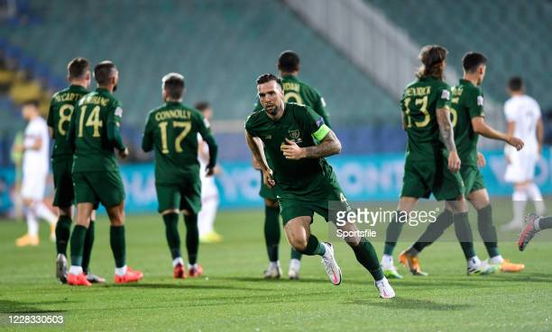 Sofia , Bulgaria - 3 September 2020; Shane Duffy of Republic of Ireland during the UEFA Nations League B match between Bulgaria and Republic of...
