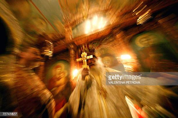 Orthodox Metropolitan bishop Ilarion holds a service in the church of St Nicholas during the Day of Saint Nicholas celebrations in Sofia 06 Deccember...