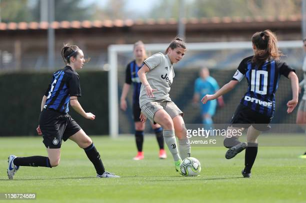 Sofia Cantore of Juventus Women U19 in action during the Serie A Primavera Final Four match between Juventus U19 Women and FC Internazionale U19...