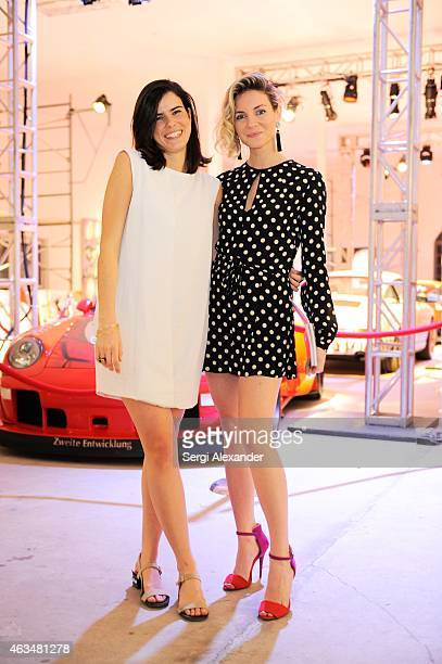 Sofia Caputo and Eda Aksoy attend the Fine Art Auction Guntram von Habsburg Foundation Cocktail Reception Hosted By Hublot Rhum Clement at SPACEBY3...