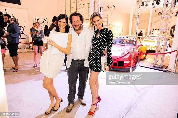 Sofia Caputo Olivier Varossieau and Eda Aksoy attend the ÊFine Art Auction Guntram von Habsburg Foundation Cocktail Reception Hosted By Hublot Rhum...