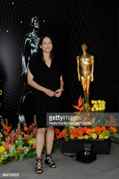 Sofia Carrillo director of Cerulia and nominated for best Animated Short Film poses during a photocall ahead of 60th Ariel Awards nominees...
