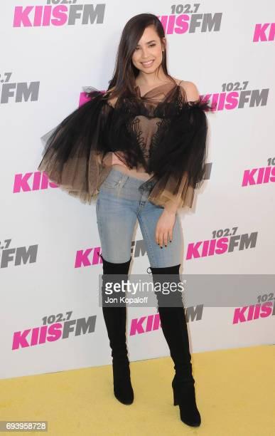 Sofia Carson arrives at 1027 KIIS FM's 2017 Wango Tango at StubHub Center on May 13 2017 in Carson California