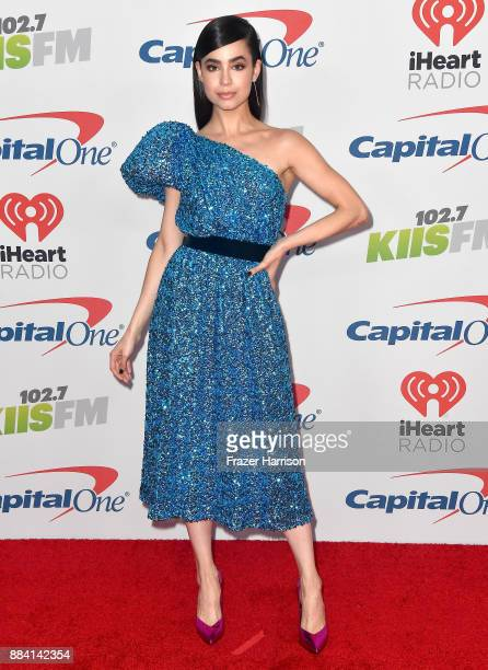 Sofia Carson attends 1027 KIIS FM's Jingle Ball 2017 presented by Capital One at The Forum on December 1 2017 in Inglewood California